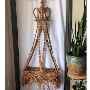 """Macrame 60"""" Vintage Plant Hanger"""